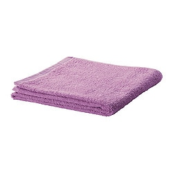 "HÄREN hand towel, lilac Length: 28 "" Width: 16 "" Surface density: 1.31 oz/sq ft Length: 70 cm Width: 40 cm Surface density: 400 g/m²"