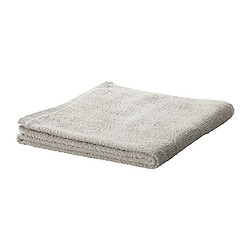 "HÄREN bath towel, light gray Length: 55 "" Width: 28 "" Surface density: 1.31 oz/sq ft Length: 140 cm Width: 70 cm Surface density: 400 g/m²"