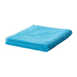 "HÄREN bath towel, turquoise Length: 55 "" Width: 28 "" Surface density: 1.31 oz/sq ft Length: 140 cm Width: 70 cm Surface density: 400 g/m²"