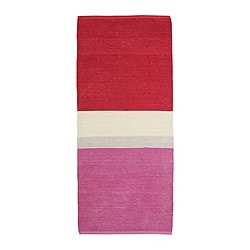 "RENATE rug, low pile, pink Length: 5 ' 11 "" Width: 2 ' 7 "" Surface density: 5 oz/sq ft Length: 180 cm Width: 80 cm Surface density: 1400 g/m²"