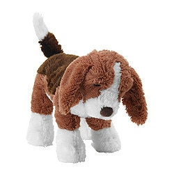 "GOSIG VALP soft toy, brown Length: 13 "" Length: 33 cm"