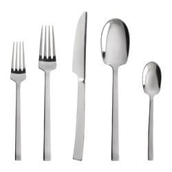 LÄRD 20-piece flatware set, stainless steel