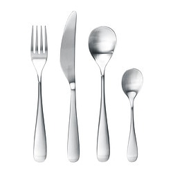 LÖJA 24-piece cutlery set, stainless steel