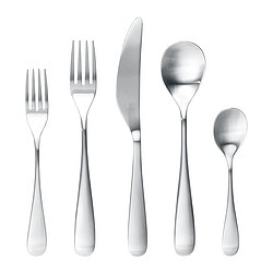 LÖJA 20-piece flatware set, stainless steel