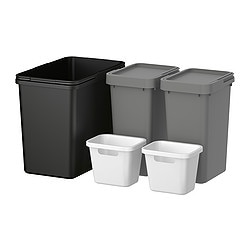 RATIONELL waste sorting for cabinet Width: 60 cm