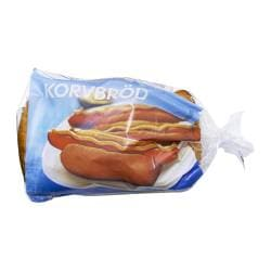 KORVBRÖD hot dog bread, frozen Net weight: 360 g Package quantity: 8 pieces