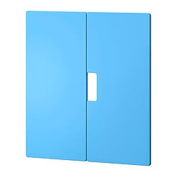 STUVA MÅLAD door, blue Width: 60.0 cm Height: 64 cm Package quantity: 2 pieces