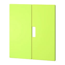 STUVA MÅLAD door, green Width: 60.0 cm Height: 64 cm Package quantity: 2 pack