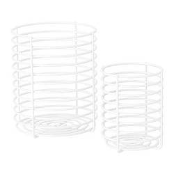 BLANKEN basket, set of 2, white