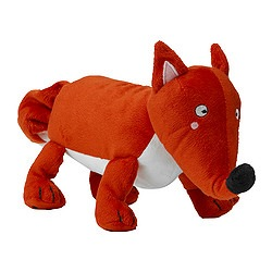 "BARNSLIG RÄV musical soft toy, red Length: 13 "" Height: 6 "" Length: 33 cm Height: 15 cm"