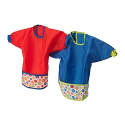 KLADD PRICKAR bib, red, blue Package quantity: 2 pack
