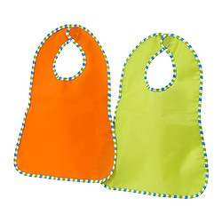 KLADD RANDIG bib, orange, green Package quantity: 2 pack Package quantity: 2 pack