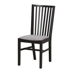 NORRNÄS chair, black, Isunda grey