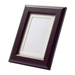 "VIRSERUM frame, dark brown Picture without mat, width: 7 ¾ "" Picture without mat, height: 9 ¾ "" Picture with mat, width: 5 "" Picture without mat, width: 20 cm Picture without mat, height: 25 cm Picture with mat, width: 13 cm"