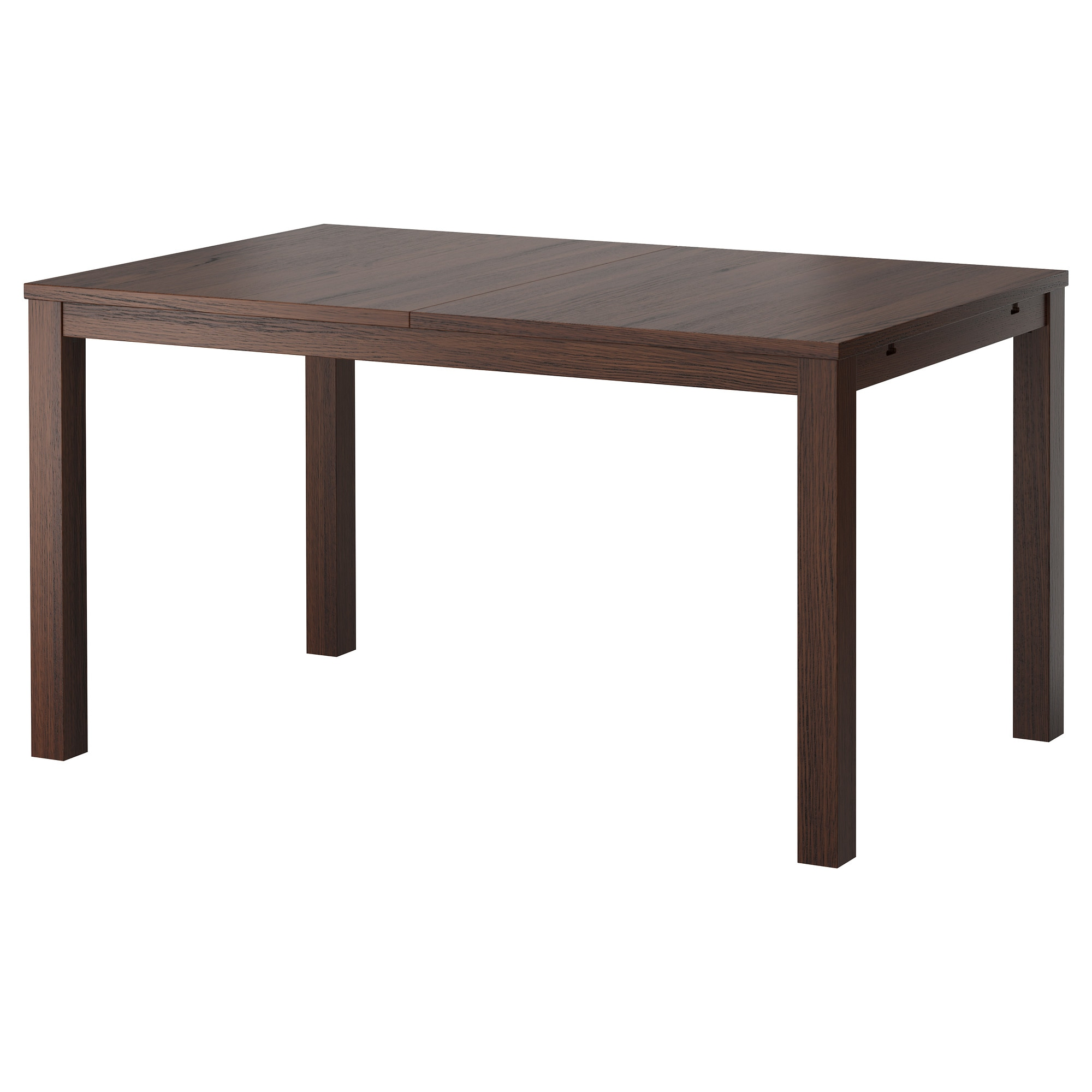 Dining Table bjursta extendable table - brown-black - ikea