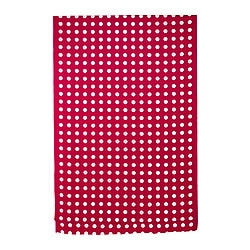 LIALOTTA plastic-coated fabric, red/white Width: 145 cm Pattern repeat: 16 cm