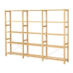 Living Room Shelving on Ivar 3 Sections Shelves  Pine Width  261 Cm Depth  30 Cm Height  179