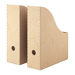 KNUFF, Magazine file, set of 2, plywood
