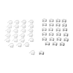 KVARTAL glider and hook, white Package quantity: 24 pieces