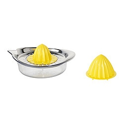 SPRITTA citrus squeezer, yellow stainless steel, transparent Length: 21 cm Width: 15 cm Height: 10 cm