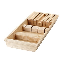 RATIONELL knife tray, birch Length: 50.1 cm Width: 20.0 cm Height: 5.0 cm
