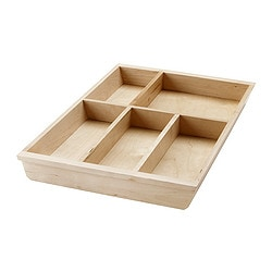 RATIONELL cutlery tray basic unit, birch Length: 50.1 cm Width: 31 cm