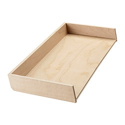 RATIONELL cutlery tray add-on unit, birch Width: 20.0 cm Depth: 50.1 cm Height: 5.0 cm