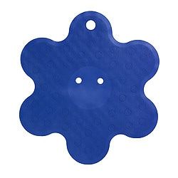 PATRULL shower mat, blue, flower Diameter: 53 cm