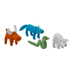 "SÖT BARNSLIG soft toy, assorted designs Length: 4 "" Package quantity: 1 pack Length: 10 cm Package quantity: 1 pack"