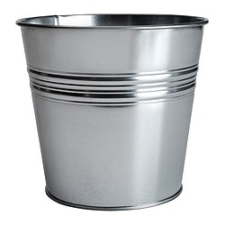 SOCKER plant pot, galvanised Outside diameter: 19 cm Max. diameter flowerpot: 17 cm Height: 17 cm
