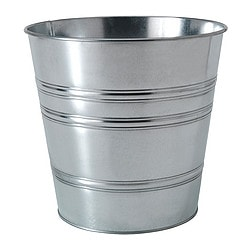 "SOCKER plant pot, galvanized Outside diameter: 10 ¾ "" Max. diameter inner pot: 9 ½ "" Height: 9 ½ "" Outside diameter: 27 cm Max. diameter inner pot: 24 cm Height: 24 cm"
