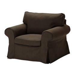 EKTORP armchair cover, Svanby brown