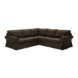 EKTORP corner sofa 2+2 cover, Svanby brown