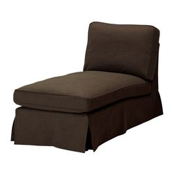 EKTORP cover free-standing chaise longue, Svanby brown