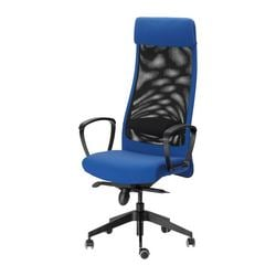 "MARKUS swivel chair, blue Tested for: 242 lb 8 oz Width: 24 3/8 "" Depth: 23 5/8 "" Tested for: 110 kg Width: 62 cm Depth: 60 cm"