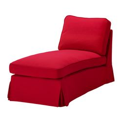 EKTORP cover free-standing chaise longue, Idemo red