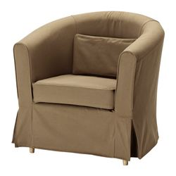 EKTORP TULLSTA armchair cover, Idemo light brown