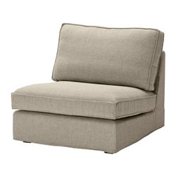 KIVIK one-seat section, Tenö light grey Width: 90 cm Depth: 98 cm Height: 83 cm