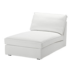 KIVIK cover for chaise longue, Blekinge white