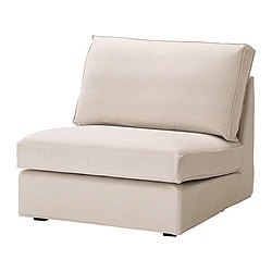 KIVIK one-seat section, Ingebo light beige Width: 90 cm Depth: 95 cm Height: 83 cm