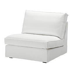 KIVIK one-seat section cover, Blekinge white