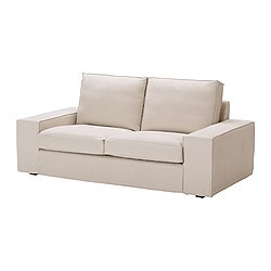 KIVIK cover two-seat sofa, Ingebo light beige