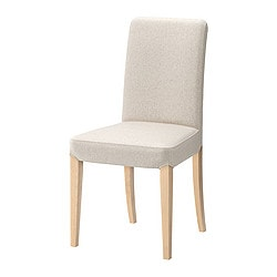 HENRIKSDAL chair, Linneryd natural, birch Tested for: 110 kg Width: 51 cm Depth: 58 cm