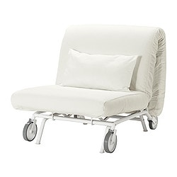 IKEA PS LÖVÅS chair-bed, Gräsbo white Width: 88 cm Depth: 110 cm Height: 88 cm