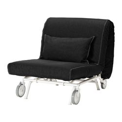 IKEA PS MURBO chair-bed, Vansta black Width: 88 cm Depth: 110 cm Height: 88 cm