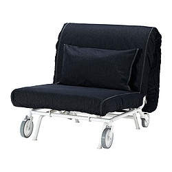 IKEA PS MURBO chair-bed, Vansta dark blue Width: 88 cm Depth: 110 cm Height: 88 cm
