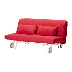 IKEA PS LÖVÅS two-seat sofa-bed, Vansta red Width: 163 cm Depth: 111 cm Height: 86 cm