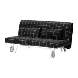 IKEA PS LÖVÅS two-seat sofa-bed, Rute black Width: 163 cm Depth: 111 cm Height: 86 cm