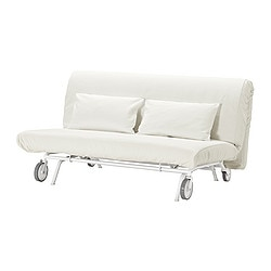 IKEA PS LÖVÅS two-seat sofa-bed, Gräsbo white Width: 163 cm Depth: 111 cm Height: 86 cm