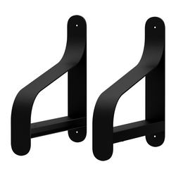 EKBY UTSJÖ bracket, black Depth: 19 cm Package quantity: 2 pack